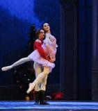 Ο πρίγκηπας κουκλών αγκαλιάζει - ο καρυοθραύστης μπαλέτου Στοκ Φωτογραφία
