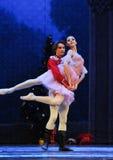 Ο πρίγκηπας κουκλών αγκαλιάζει - ο καρυοθραύστης μπαλέτου Στοκ φωτογραφίες με δικαίωμα ελεύθερης χρήσης