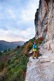 Ο προορισμός ταξιδιού, ανακαλύπτει την Ευρώπη Περιοχή αναρρίχησης βράχου, Spai στοκ εικόνες