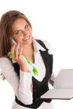 Ο προϊστάμενος - εργασία επιχειρησιακών η secretarry γυναικών Preety στην αρχή είναι Στοκ Εικόνα
