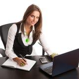 Ο προϊστάμενος - εργασία επιχειρησιακών η secretarry γυναικών Preety στην αρχή είναι Στοκ Φωτογραφίες