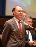 Ο προϊστάμενος της Ομοσπονδιακής Υπηρεσίας για τον Τύπο και τις μαζικές επικοινωνίες Mikhail Seslavinsky Στοκ φωτογραφία με δικαίωμα ελεύθερης χρήσης