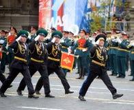 Ο προϊστάμενος του ιδρύματος ορίου της Μόσχας FSB της Ρωσίας ο γενικός-σημαντικότερος Valery Kozlov κατά τη διάρκεια μιας παρέλασ Στοκ Εικόνες