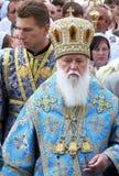 Ο προϊστάμενος του ουκρανικού Πατριαρχείου Fila του Κίεβου Ορθόδοξων Εκκλησιών Στοκ Φωτογραφίες
