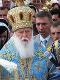 Ο προϊστάμενος του ουκρανικού Πατριαρχείου Fila του Κίεβου Ορθόδοξων Εκκλησιών Στοκ Εικόνα