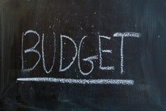 Ο προϋπολογισμός στοκ εικόνα