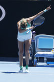 Ο πρωτοπόρος Βικτώρια Azarenka του Grand Slam της Λευκορωσίας γιορτάζει τη νίκη αφότου ανοίγει η στρογγυλή αντιστοιχία 4 σε Αυστρ Στοκ φωτογραφίες με δικαίωμα ελεύθερης χρήσης