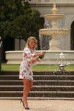Ο πρωτοπόρος Angelique Kerber του Grand Slam της Γερμανίας γιορτάζει τη νίκη σε Αυστραλό ανοίγει το 2016 Στοκ Εικόνες