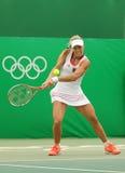 Ο πρωτοπόρος Angelique Kerber του Grand Slam της Γερμανίας στη δράση κατά τη διάρκεια της αντισφαίρισης ξεχωρίζει την πρώτη στρογ Στοκ Φωτογραφία