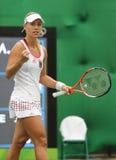 Ο πρωτοπόρος Angelique Kerber του Grand Slam της Γερμανίας στη δράση κατά τη διάρκεια της αντισφαίρισης ξεχωρίζει την πρώτη στρογ Στοκ εικόνες με δικαίωμα ελεύθερης χρήσης