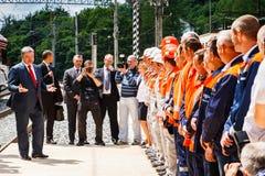 Ο Πρόεδρος Poroshenko ανοίγει τη νέα σήραγγα σιδηροδρόμων Carpathians Στοκ φωτογραφία με δικαίωμα ελεύθερης χρήσης