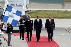 Ο Πρόεδρος Barack Obama φθάνει στην Αθήνα Στοκ Εικόνα