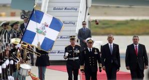 Ο Πρόεδρος Barack Obama φθάνει στην Αθήνα Στοκ φωτογραφία με δικαίωμα ελεύθερης χρήσης