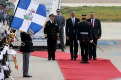 Ο Πρόεδρος Barack Obama φθάνει στην Αθήνα Στοκ Εικόνες