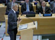 Ο Πρόεδρος Barack Obama φιλοξένησε μια Σύνοδο Κορυφής των ηγετών στη σφαιρική κρίση προσφύγων στα περιθώρια UNGA 71 Στοκ Φωτογραφία