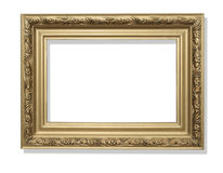 ο πρόσθετος eps πλίθας χρυσός εικονογράφος πλαισίων μορφής περιλαμβάνει Στο λευκό Στοκ Εικόνες