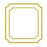 ο πρόσθετος eps πλίθας χρυσός εικονογράφος πλαισίων μορφής περιλαμβάνει Στοκ Φωτογραφίες