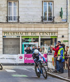 Ο πρόλογος Mark Renshaw- Παρίσι Νίκαια 2013 ποδηλατών σε Houilles Στοκ Εικόνες
