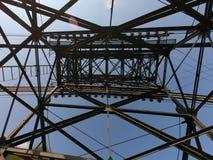 Ο πυλώνας cableway που συνδέει τις πόλεις Albino και Selvino στοκ εικόνες με δικαίωμα ελεύθερης χρήσης