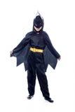 Ο πυροβολισμός στούντιο του χαριτωμένου αγοριού έντυσε ως Batman στοκ εικόνα με δικαίωμα ελεύθερης χρήσης