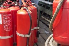 Ο πυροσβεστήρας λήχτηκε Στοκ φωτογραφία με δικαίωμα ελεύθερης χρήσης