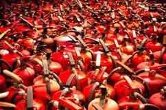 Ο πυροσβεστήρας χρησιμοποιούμενος Στοκ εικόνες με δικαίωμα ελεύθερης χρήσης