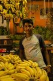 Ο πωλητής μπανανών στοκ εικόνα