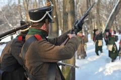 Ο πόλεμος 1812 Χειμερινή εκστρατεία Στοκ φωτογραφίες με δικαίωμα ελεύθερης χρήσης