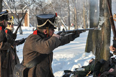 Ο πόλεμος 1812 Χειμερινή εκστρατεία Στοκ εικόνα με δικαίωμα ελεύθερης χρήσης