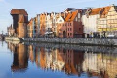 Ο πύλη-γερανός είναι μια ιστορική πύλη πόλεων με έναν ανυψωτικό μηχανισμό στο Γντανσκ Πολωνία Στοκ φωτογραφίες με δικαίωμα ελεύθερης χρήσης