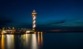 Ο πύργος αμέσως μετά από το ηλιοβασίλεμα Στοκ Εικόνες