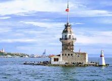 Ο πύργος κοριτσιών ` s kiz kulesi στην Κωνσταντινούπολη, Τουρκία στοκ φωτογραφία με δικαίωμα ελεύθερης χρήσης
