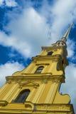Ο πύργος κουδουνιών του Peter και του φρουρίου του Paul Στοκ Εικόνα