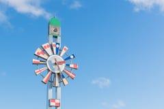 Ο πύργος ρολογιών στο πάρκο kaiwomaru στοκ εικόνες