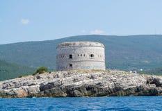 Ο πύργος στο νησί Στοκ Εικόνα