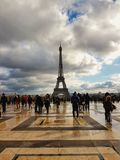 Ο πύργος του Άιφελ και το τετράγωνο trocadero, Παρίσι, Γαλλία Στοκ Εικόνες
