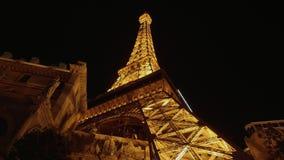 Ο πύργος του Άιφελ στο ξενοδοχείο και τη χαρτοπαικτική λέσχη του Παρισιού Λας Βέγκας - ΗΠΑ 2017 απόθεμα βίντεο