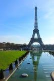 Ο πύργος του Άιφελ που βλέπει από την πηγή Trocadero, Παρίσι, Γαλλία Στοκ Εικόνα