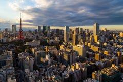 Ο πύργος του Τόκιο είναι πύργος επικοινωνιών και παρατήρησης Στοκ εικόνες με δικαίωμα ελεύθερης χρήσης