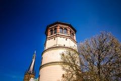 Ο πύργος του Castle στο Ντίσελντορφ, Γερμανία Στοκ φωτογραφία με δικαίωμα ελεύθερης χρήσης