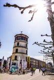 Ο πύργος του Castle στο Ντίσελντορφ, Γερμανία Στοκ φωτογραφίες με δικαίωμα ελεύθερης χρήσης