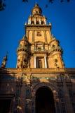 Ο πύργος plaza de espana στη Σεβίλη, Ισπανία, Ευρώπη Στοκ εικόνες με δικαίωμα ελεύθερης χρήσης