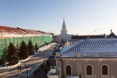 Ο πύργος Spasskaya Savior ` s, Kazan Στοκ Φωτογραφία