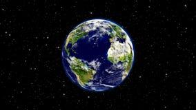 Ο πλανήτης Γη στον κόσμο ή το διάστημα, η γη και ο γαλαξίας σε ένα νεφέλωμα καλύπτουν Στοκ εικόνες με δικαίωμα ελεύθερης χρήσης