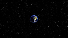 Ο πλανήτης Γη στον κόσμο ή το διάστημα, η σφαίρα και ο γαλαξίας σε ένα νεφέλωμα καλύπτουν Στοκ Φωτογραφίες