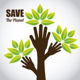 ο πλανήτης σώζει διανυσματική απεικόνιση