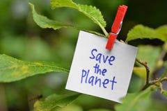 ο πλανήτης σώζει στοκ φωτογραφία με δικαίωμα ελεύθερης χρήσης