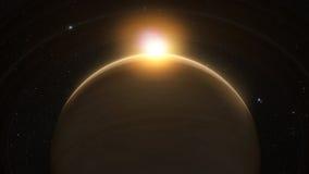 ο πλανήτης χτυπά τον Κρόνο διανυσματική απεικόνιση