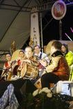Ο δράστης, μουσικός στο διεθνές τύμπανο Lamphun Στοκ εικόνα με δικαίωμα ελεύθερης χρήσης