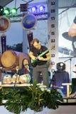Ο δράστης, μουσικός στο διεθνές τύμπανο Lamphun Στοκ Εικόνες